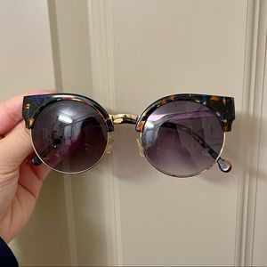 Urban Outfitters Round Cat-Eye Gradient Sunglasses